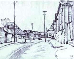 Finland. A Street in Lovisa. — Мстислав Добужинский