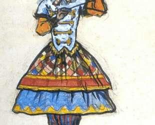 Первая шарманщица. Эскиз костюма — Александр Бенуа