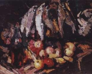 Рыбы, вино и фрукты — Константин Коровин