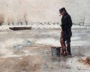 Fisher On The Ice — Корнелис Вреденбург
