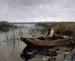 Fisherman on a poldercanal — Корнелис Вреденбург