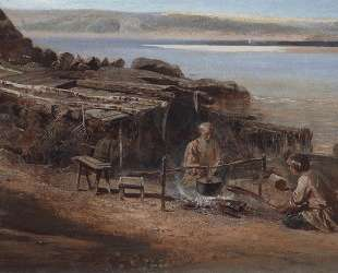 Рыбаки на Волге — Алексей Саврасов