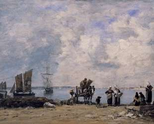 Fishermen's Wives at the Seaside — Эжен Буден