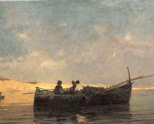 Fishing boat at dusk — Константинос Воланакис