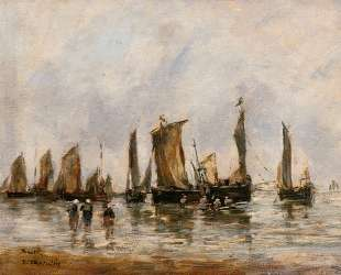 Fishing Boats at Berck — Эжен Буден