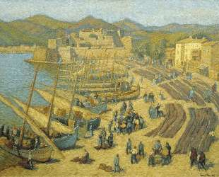 Fishing Boats at Collioure — Анри Мартен