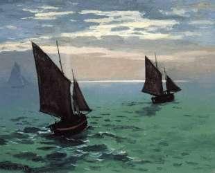 Рыбацкие лодки в море — Клод Моне