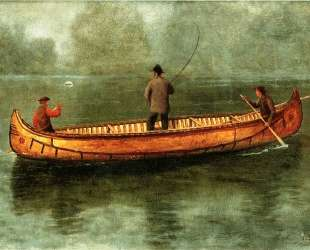 Fishing from a Canoe — Альберт Бирштадт