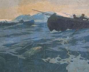 Ловля рыбы на Мурманском море — Константин Коровин
