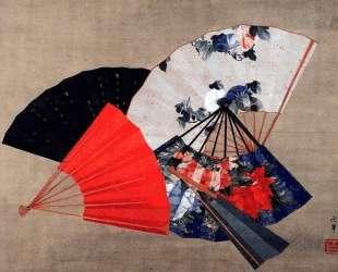 Five fans — Кацусика Хокусай