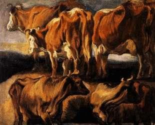 Five studies of cows — Якоб Йорданс