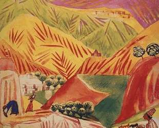 Flamboyant landscape — Мартирос Сарьян