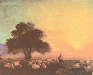 Стадо овец с пастухами — Иван Айвазовский