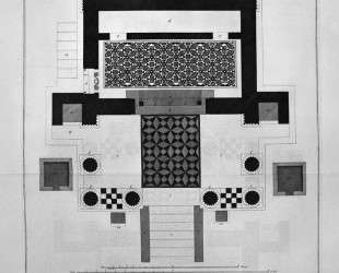 Floor plan for the great Temple of Isis — Джованни Баттиста Пиранези