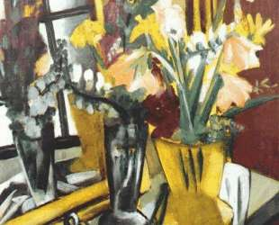 Floral still life with mirror — Макс Бекман