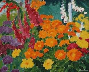 Flower garden (marigolds) — Эмиль Нольде
