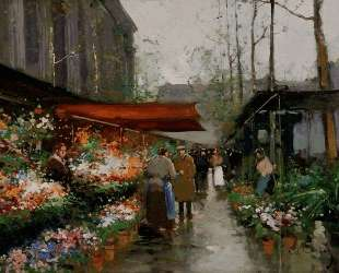 Flower Market At La Madeleine — Эдуард Кортес