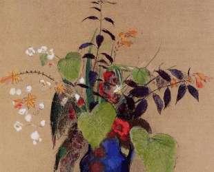 Flowers in a Blue Jug — Одилон Редон