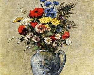 Flowers in a Vase with one Handle — Одилон Редон