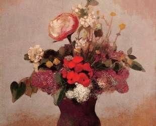 Flowers in aa Brown Vase — Одилон Редон