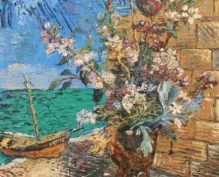 Цветы у моря — Давид Бурлюк