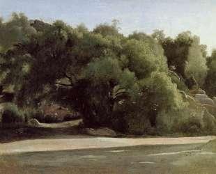 Фонтенбло, дорога в Шайи — Камиль Коро