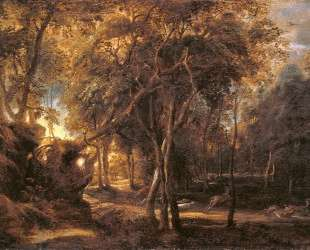 Forest Landscape at the Sunrise — Питер Пауль Рубенс