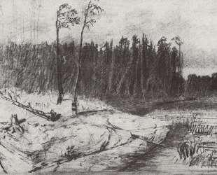 Лес у воды — Архип Куинджи
