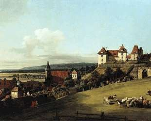 Fortress of Sonnenstein above Pirna — Бернардо Беллотто