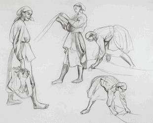 Четыре женских фигуры — Зинаида Серебрякова
