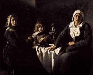Four Figures at Table — Братья Ленен