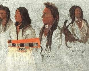 Four Indians — Альберт Бирштадт