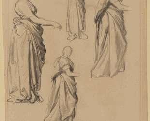 Four studies of a draped female figure — Джордж Фредерик Уоттс