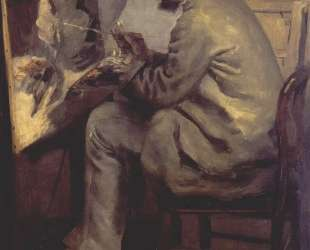 Frederic Bazille Painting The Heron (Frederic Bazille at his Easel) — Пьер Огюст Ренуар