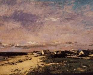 Вид французского побережья — Шарль-Франсуа Добиньи