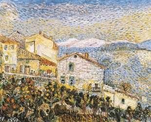 Французский городок — Давид Бурлюк