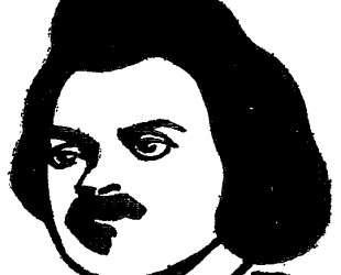 French writer Honore de Balzac — Феликс Валлотон