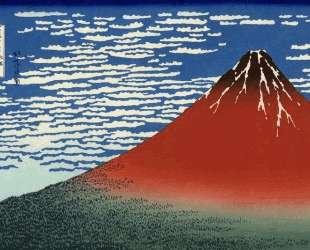 Fuji, Mountains in clear Weather (Red Fuji) — Кацусика Хокусай