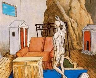 Мебель и скалы в комнате — Джорджо де Кирико