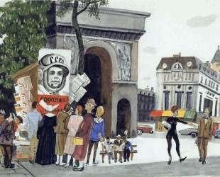 День Гагарина в Париже — Александр Дейнека