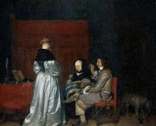 Gallant Conversation (The Paternal Admonition) — Герард Терборх