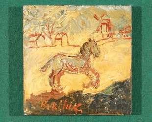 Лошадь скачет по деревне — Давид Бурлюк