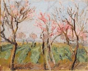 Садик под Римом. Персики в цвету. — Пётр Кончаловский