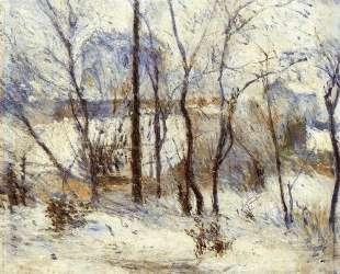 Сад в снегу — Поль Гоген