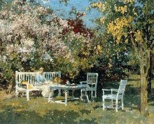 Garden With Blossoming Trees — Корнелис Вреденбург