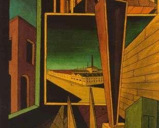 Геометрическая композиция с заводским пейзажем — Джорджо де Кирико