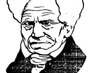 German philosopher Arthur Schopenhauer — Феликс Валлотон