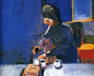 Girl and Three Coffee Cups — Ричард Дибенкорн