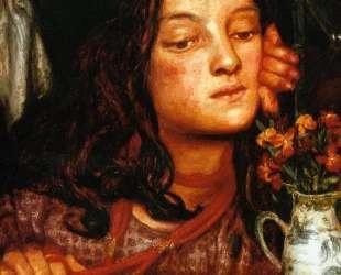 Girl at a Lattice — Данте Габриэль Россетти