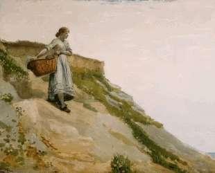 Girl Carrying a Basket — Уинслоу Хомер